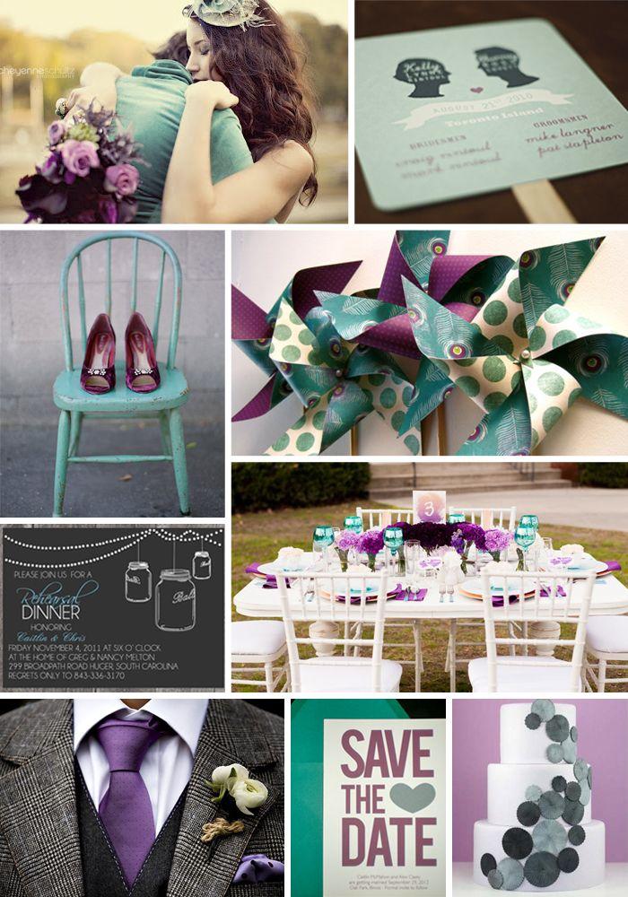 Purple Teal & Grey