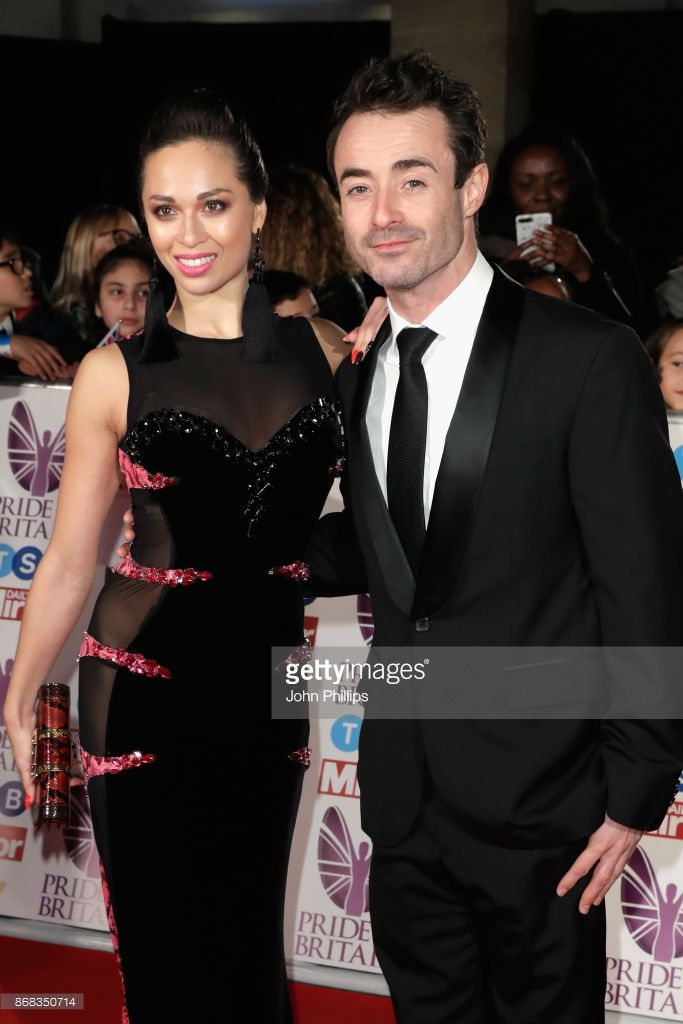 Katya Jones and Joseph McFadden attend the Pride Of Britain Awards at Grosvenor House, on October 30, 2017 in London, England.