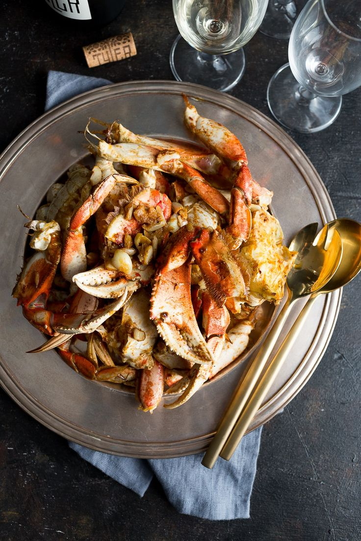 Roasted Harissa Garlic Crab