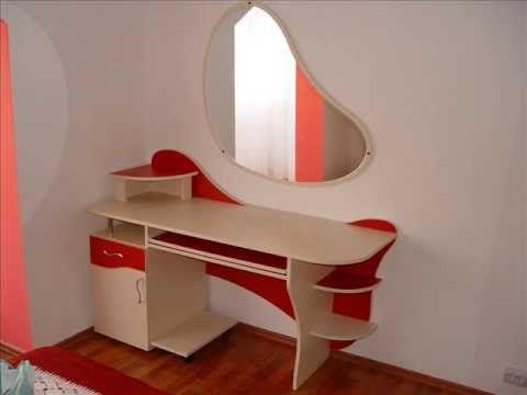 Mobila la Comanda - Proiectare si Amenajare Mobilier Dormitor Rosu