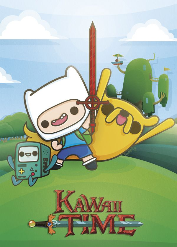 Kawaii Adventure Time by SquidandPig - Finn, Jake and Bmo www.squidandpig.com