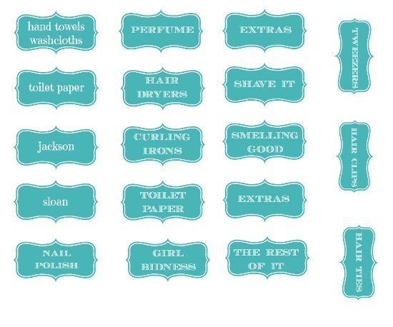 How to Make Labels in PicMonkey + Free Bathroom Storage Label Printable! {Hi Sugarplum}