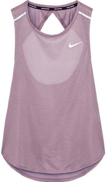 Nike - Breathe Open-back Stretch-mesh Tank - Lilac, #ad