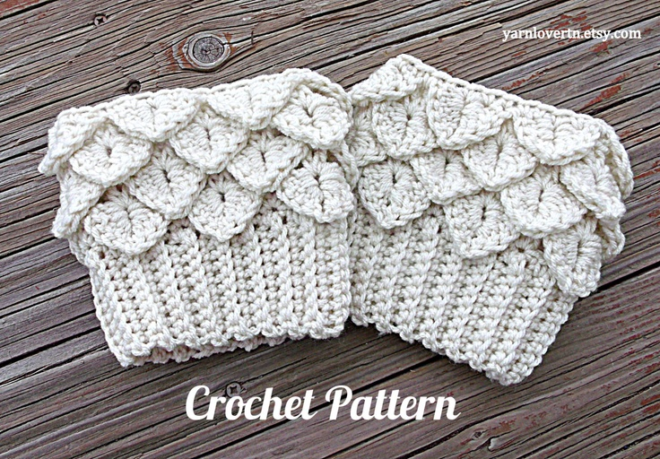 Crochet Patterns I Can Make And Sell : Boot cuffs, Crocodile tears and Crocodile on Pinterest