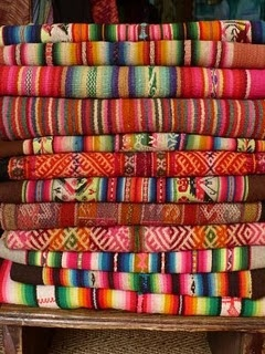 bright natural colours, rustic indigenous
