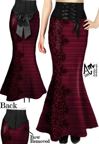 Laced bow Bustle Skirt by Amber Middaugh (currently in voting - click the link and vote YES to give it a shot at production)--- Save 37% at ChicStar.com --Coupon: AMBER37