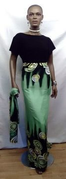 Green Long Green Skirt with Matching Head Wrap #headbands[ad_1]  Green Long Gree…   – Head Bands