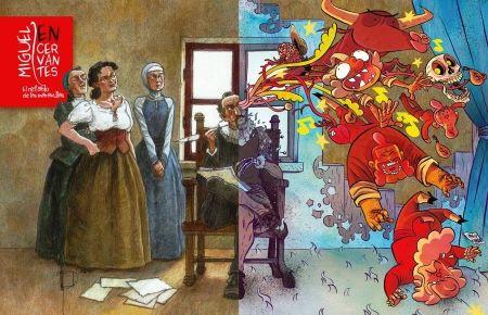 Título :Miguel de Cervantes : El retablo de las maravillas/ Miguelanxo Prado, David Rubín Publicación Bilbao: Astiberri, 2015  Autor : Prado, Miguelanxo (1958- ) SIGNATURA: COMIC-G-18 http://kmelot.biblioteca.udc.es/record=b1534388~S1*gag