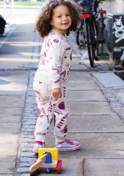 Girls Sweat Set #kids #apparel #pattern #sweatshirt #blue #incakids #hipster #poster #type #wave #blue #girl