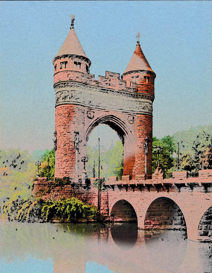 Soldiers And Sailors Memorial Arch Hartford Connecticut Scenic Art Print  Wall Home Office Decor
