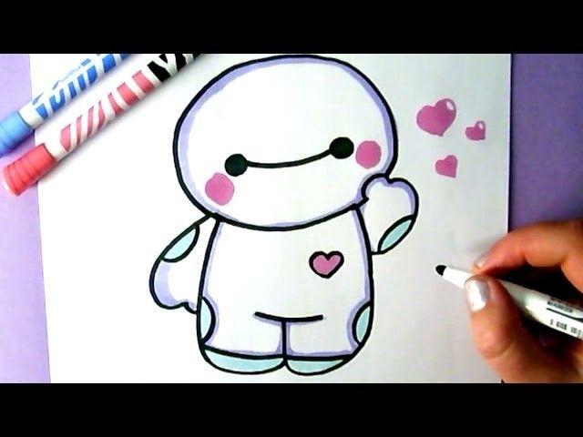 easy drawing drawings baymax kawaii draw hero dessin zeichnen hello tutorial dessiner comment facile licorne unicorn dessins malen panda cartoon