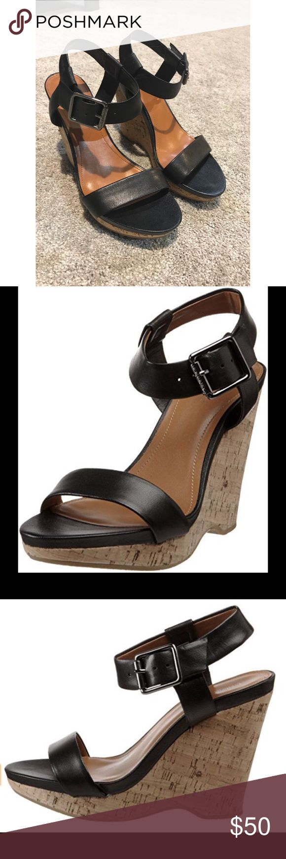 Calvin Klein Nikole Wedge Never worn. In absolute perfect condition. Currently online for over $99! Calvin Klein Shoes Wedges