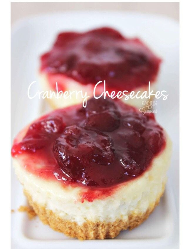 Mini Cranberry Cheesecake---- Please Save  First Then Like #Food #Drink #Trusper #Tip