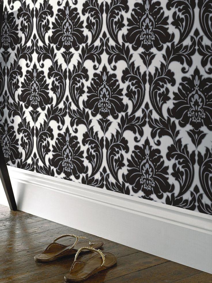 Superfresco Easy Majestic Wallpaper - Black | very.co.uk
