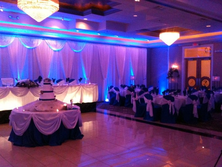 Uplighting and Table lighting. See more at www.alistdjs.com