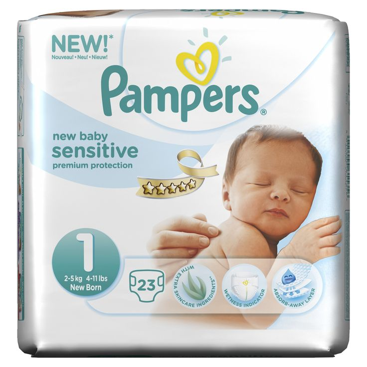 Pampers Size 1 New Baby Sensitive Pants - Pack of 92: Amazon.co.uk: Baby