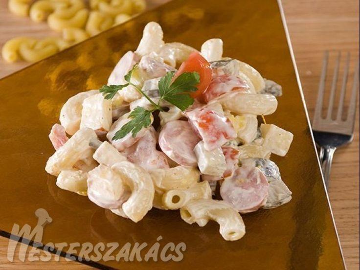 Majonézes, virslis tésztasaláta recept
