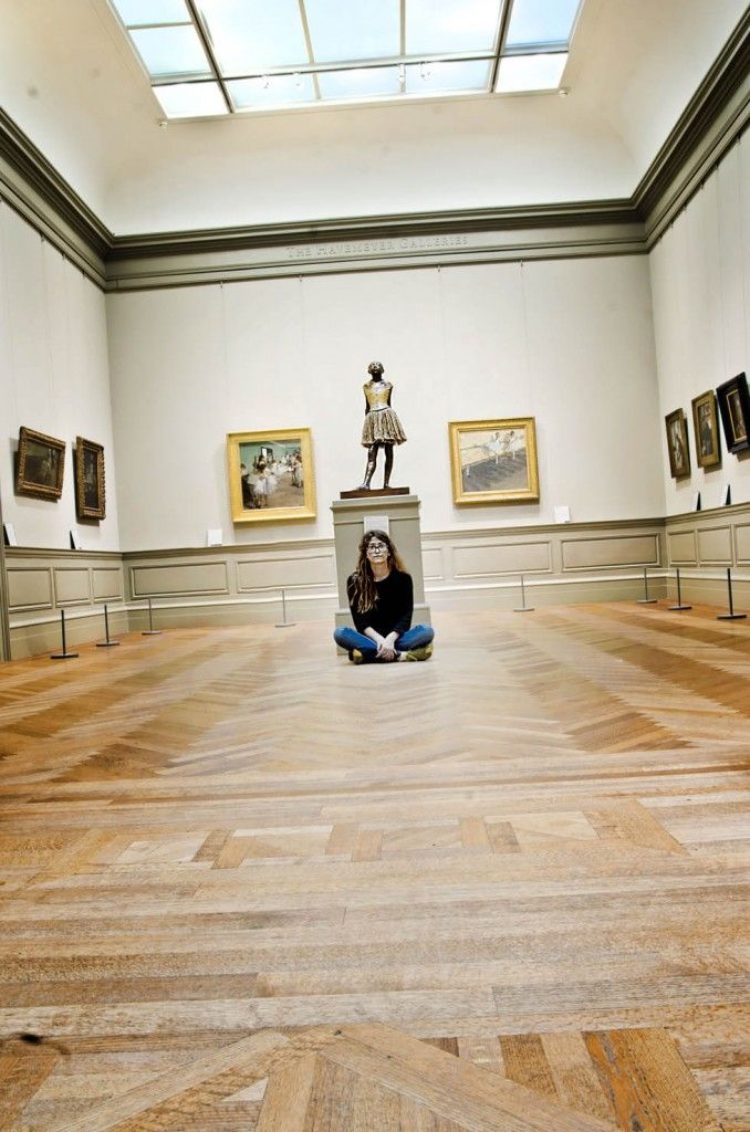 Self portrait with Degas at the Metropolitan Museum in NYC- By Tina Lalonde RiverRat Imaging