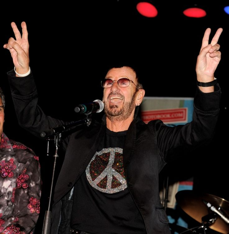 He comes bearing peace and love. Ringo Starr announces a new tour with His All-Starr Band at a press conference on Oct. 23 in Los AngelesBears Peace, Ringo Starr, Richard Starkey, All Starr Band, Starr Announcements, Los Angeles, Press Conference, Los Angels, Starr Time