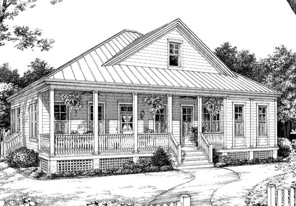 Spacious yet compact southwood plan 1029 southern for Southern cottage house plans with photos