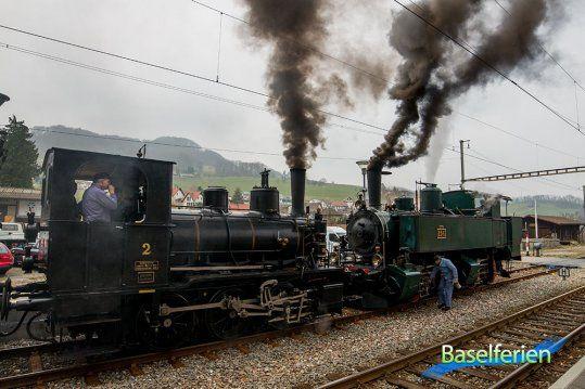 Am Samstag, 6. und Sonntag 7. April war der Blues-Train auf der alten Hauensteinlinie unterwegs. Der Dampfzug fuhr von Sissach via Läufelfingen bis nach Olten und zurück.