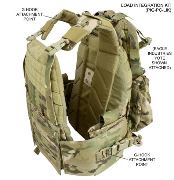 PIG Plate Carrier, take out the plates, you don't need the extra weight. The carrier will give you some protection in the chest and back and allow you to carry all your cool guy gear.