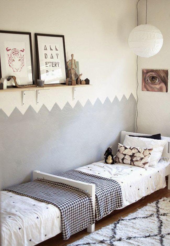 Dormitorios infantiles compartidos | Estilo Escandinavo
