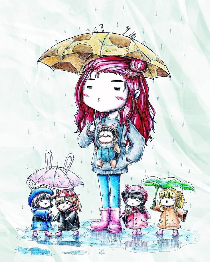 """1,656 Likes, 30 Comments - GFRIEND SHIPS & OTPs (@gfriendships) on Instagram: """"• [FANART] • """"A rainy day in the life of So-leader with her 5 kids"""" made by / ©: giraffesojung…"""""""