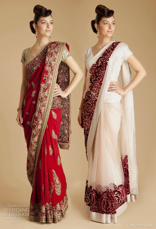 White red saree #saree #indian wedding #fashion #style #bride #bridal party #brides maids #gorgeous #sexy #vibrant #elegant #blouse #choli #jewelry #bangles #lehenga #desi style #shaadi #designer #outfit #inspired #beautiful #must-have's #india #bollywood
