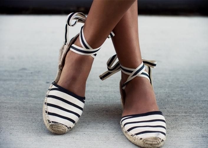 Espadrilles: Flat, Wedge or Lace Up - Vicki Archer from Soludos website
