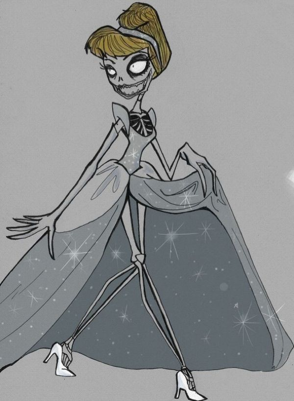 Disney Princess inspired by Tim Burton's Art
