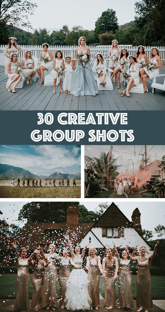 Creative group shots are hard to do with so many people and a limited amount of time, but before you grab your bride and groom for couple portraits, take...