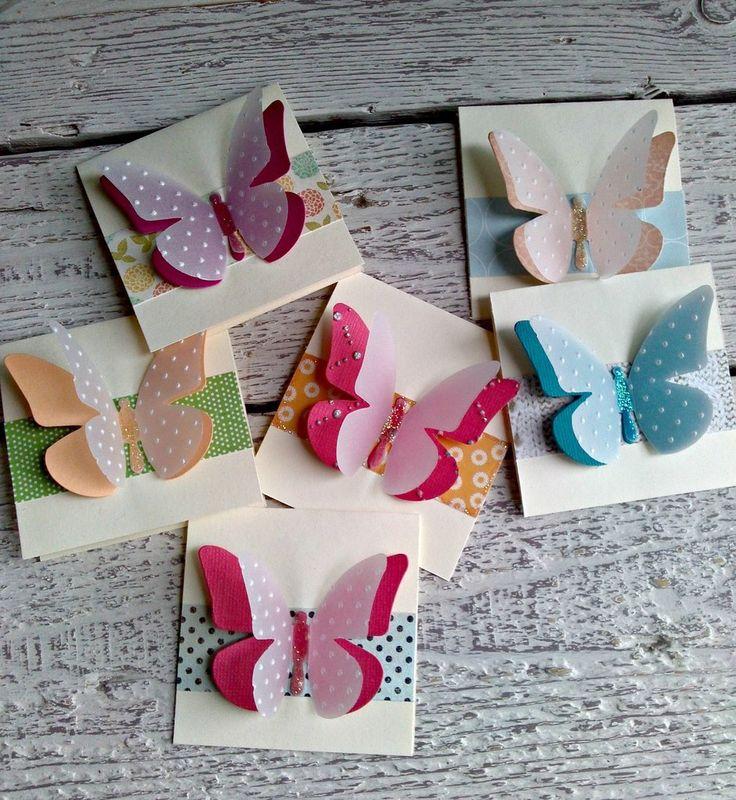 Segnaposto, inviti, chiudipacco con farfalle fatti a mano, by Ilmondoincartatodimichela, 0,60 € su misshobby.com