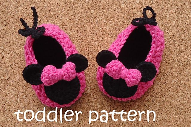 Minnie Mouse Crochet Shoes Toddler Pattern