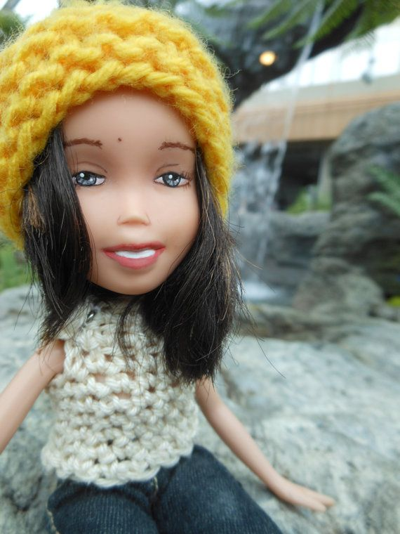 Inuit heritage beautiful OOAK custom handpainted doll with modern day handmade crop top and tuque, unique face repainted