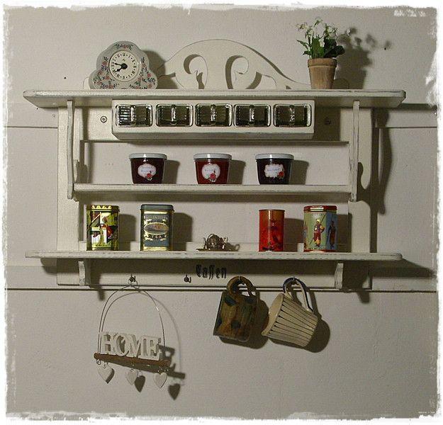 659 besten Vintage, Shabby chic, Regal, Möbel, Küche, Kitchen ...