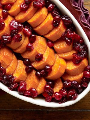 Maple-Cranberry Sweet Potato Dish    alternative to sweet potato pie