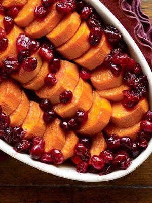 Maple-Cranberry Sweet Potato Dish alternative to sweet potato pie