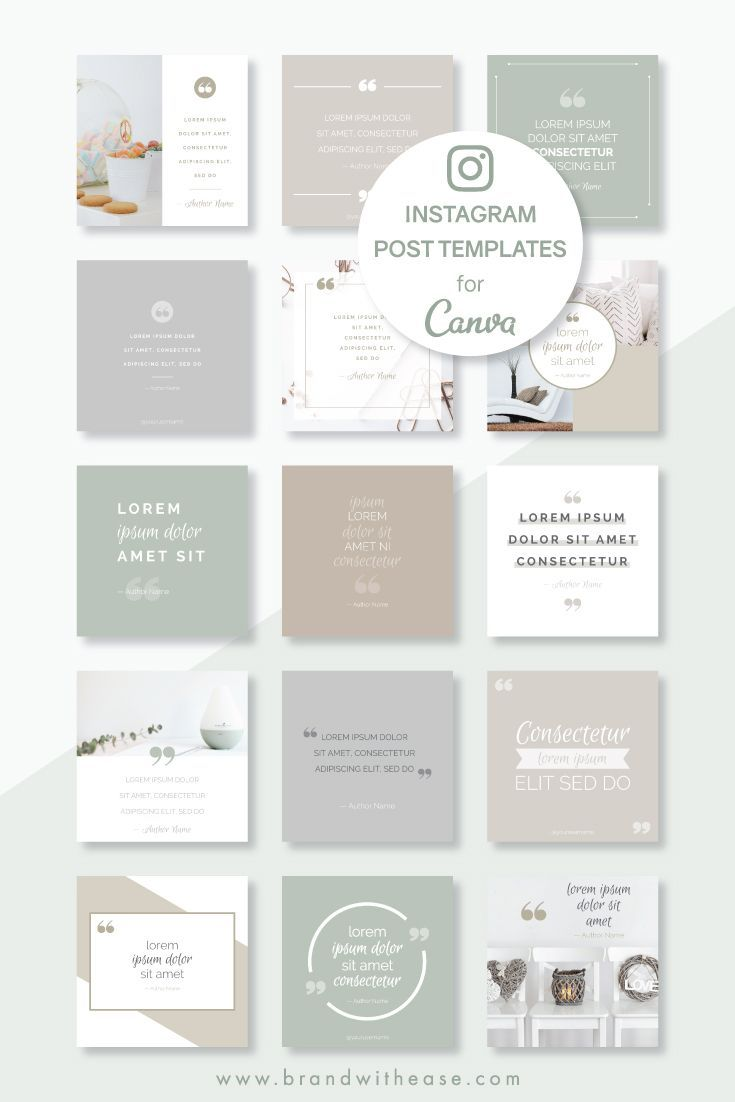Instagram Post Templates Neutral Quote Pack For Canva Standard