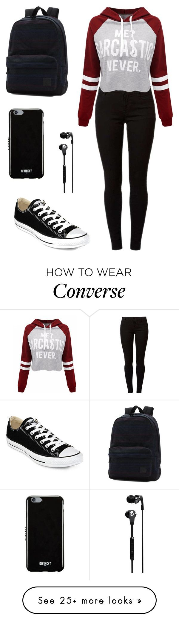 """""""Untitled #5"""" by amela-ella-hodzic on Polyvore featuring Dorothy Perkins, WithChic, Converse, Vans, Skullcandy and Givenchy"""