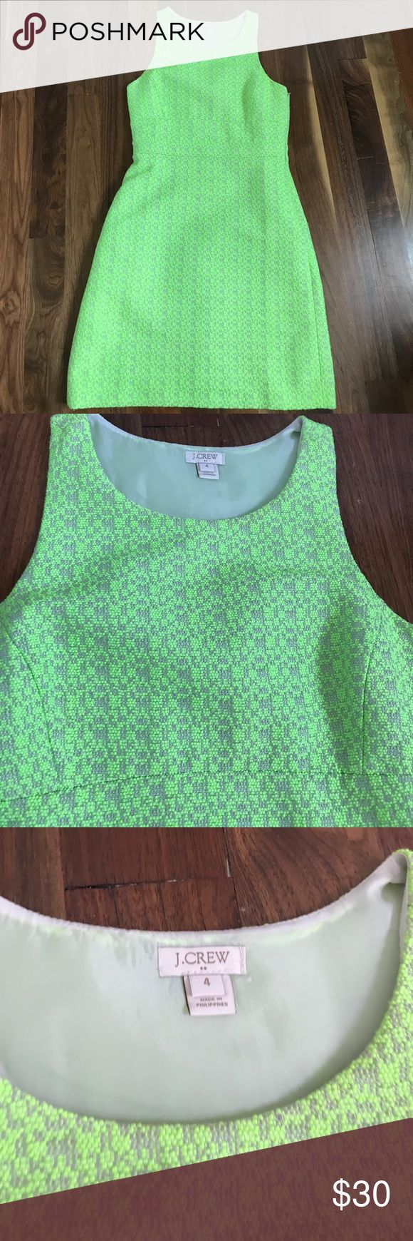 JCREW size 4 lime green dress Amazing JCREW size 4 lime green dress. Fully lined and amazing back detail. Brand new condition. Side zip! J. Crew Dresses