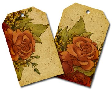 Two digital downloads of rose flower tags that you can print and use or use digitally for scrapbooking.: Rose Flowers, Free Flowers, Scrapbook Flowers, Digital Scrapbooking, Scrapbook Tags, Digi Scrapbook, Digital Downloads, Vintage Flowers, Flowers Tags