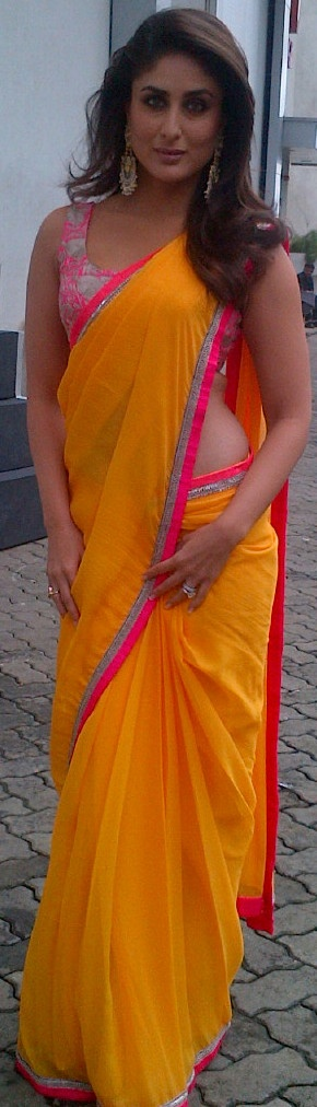 Love how bright this saree is!