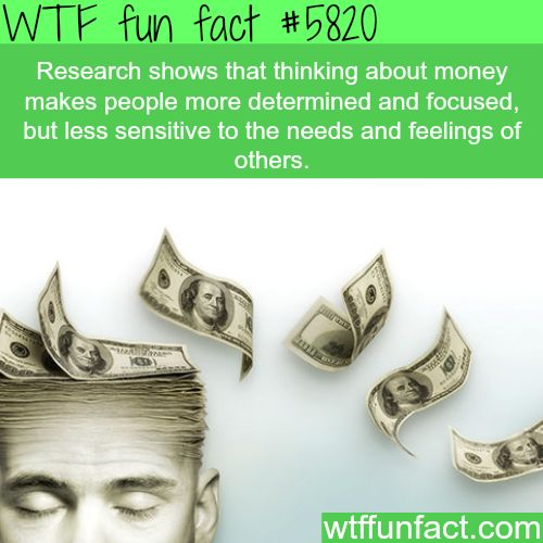 Thinking about money - WTF fun facts
