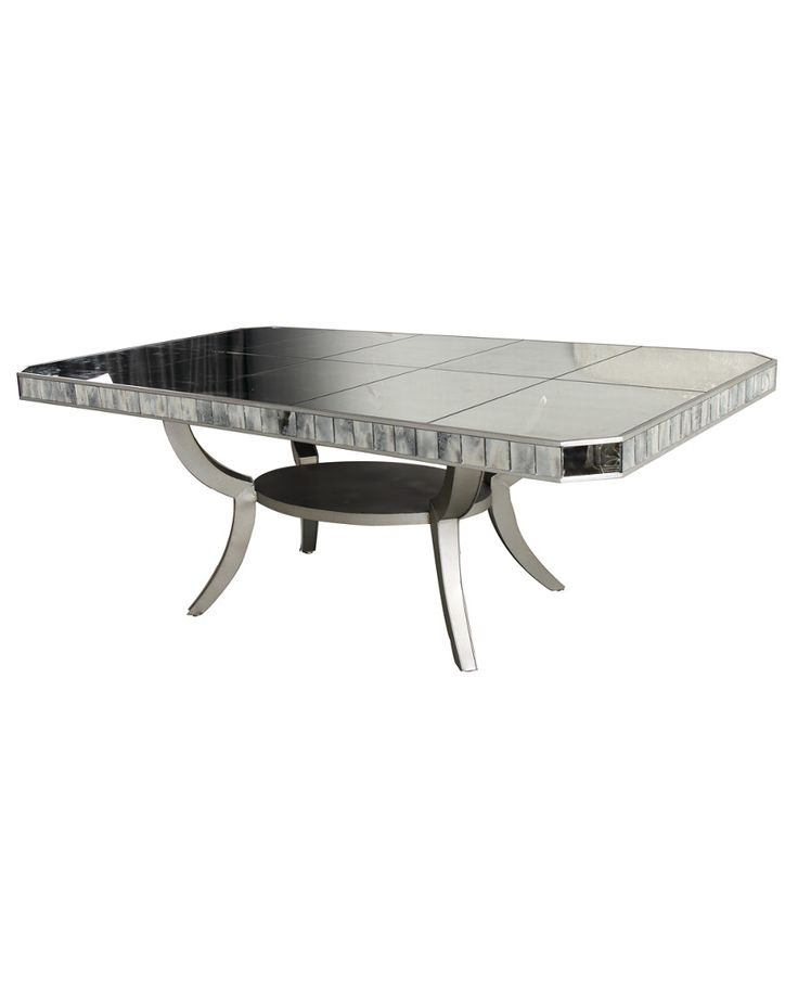 mirrored rectangular dining room table is on rue shop it now