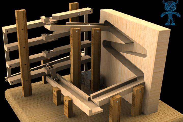Marble Machine Spoon Elevator - SketchUp,Parasolid,SOLIDWORKS,OBJ,Autodesk 3ds…