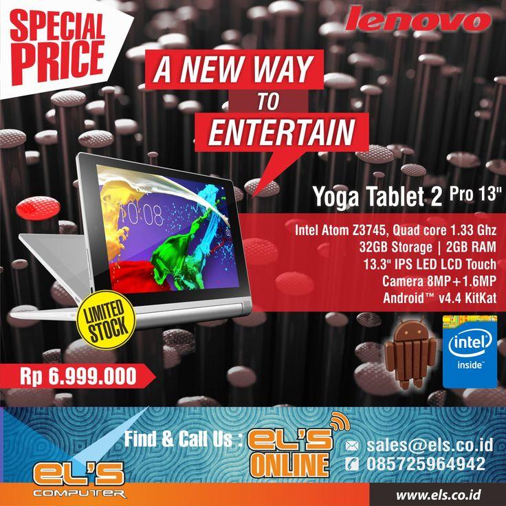 Lenovo Yoga Tablet 2 Pro. Info detail >> http://goo.gl/KTCvcD
