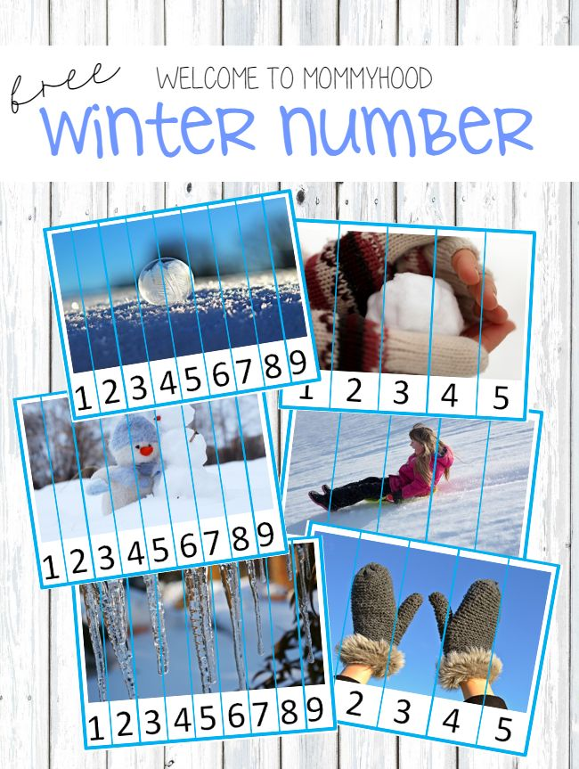 Free Winter Number Puzzles from Welcome to Mommyhood