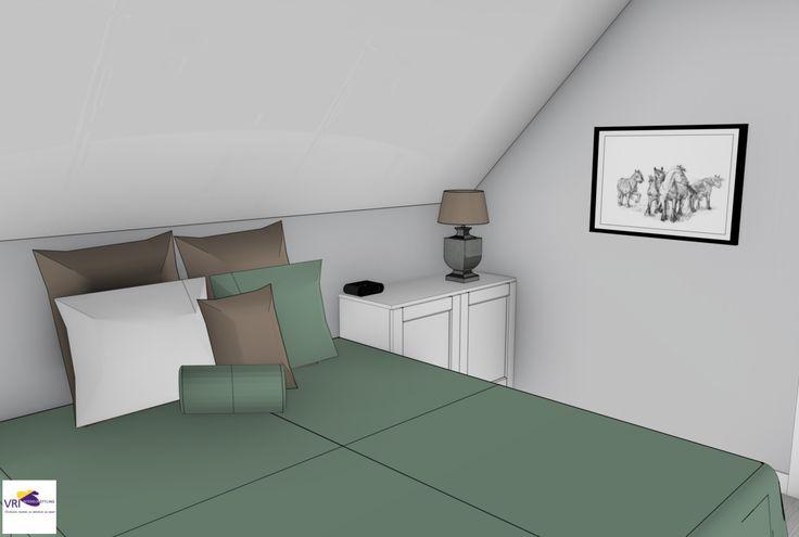 Slaapkamer Lichtgrijs : Slaapkamer in 3D ontwerp: Monique van ...