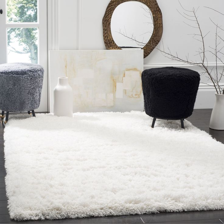 Safavieh Polar White Shag Rug 6 7 Square